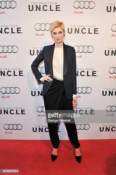 Cast member Elizabeth Debicki attends the premiere of Warner Bros Pictures' 'The Man From UNCLE' at Scotiabank Theatre on August 11 2015 in Toronto...