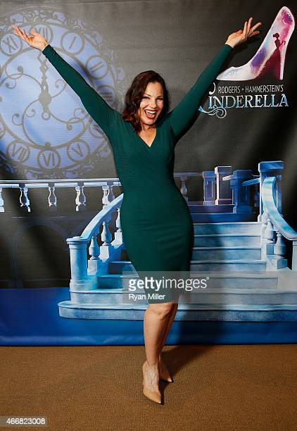 Cast member Fran Drescher poses during a post show photo op for the opening night performance of 'Rodgers Hammerstein's Cinderella' at Center Theatre...
