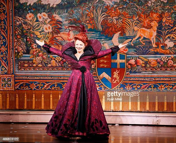 Cast member Fran Drescher take her bows during the curtain call for the opening night performance of Rodgers Hammerstein's Cinderella at Center...