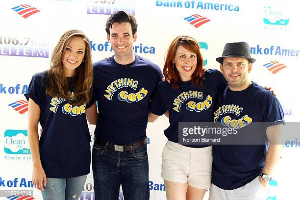 """Cast member from """"Anything Goes"""" Laura Osnes, Colin Donnell, Tari Kelly and Robert Creighton attend the 106.7 Lite FM Presents Broadway performance..."""