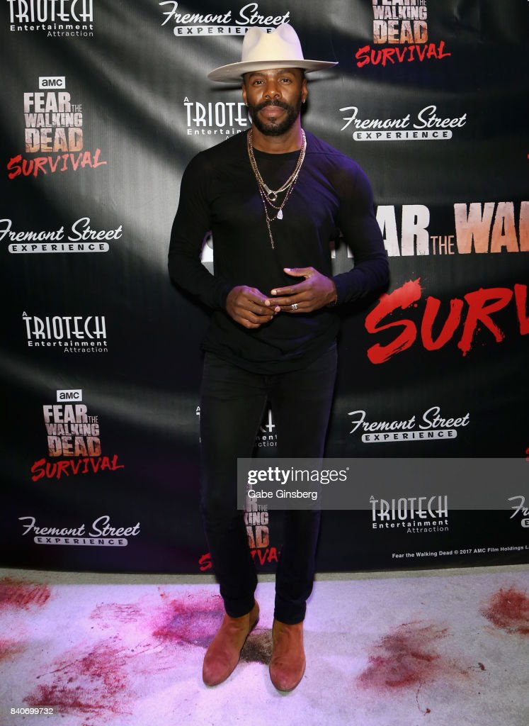 Cast member from the 'Fear the Walking Dead' television series Colman Domingo attends the Fear the Walking Dead Survival attraction grand opening at the Fremont Street Experience on August 29, 2017 in Las Vegas, Nevada.