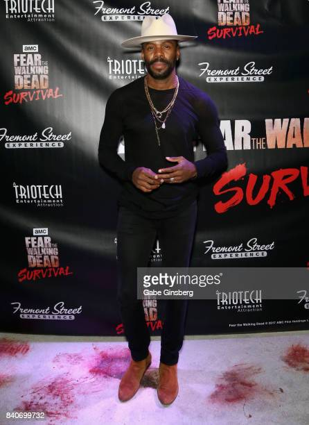 Cast member from the 'Fear the Walking Dead' television series Colman Domingo attends the Fear the Walking Dead Survival attraction grand opening at...