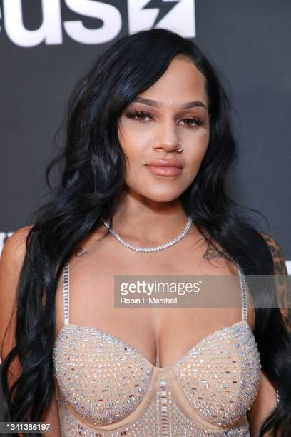 """Cast member Gamez attends Zeus Network's """"One Mo Chance"""" Season 2 Premiere at AMC Universal at City Walk on September 19, 2021 in Universal City,..."""