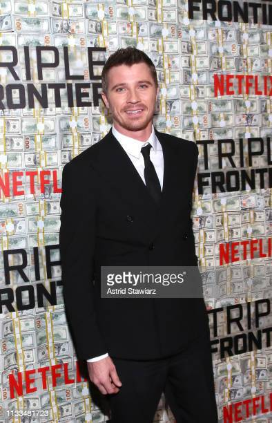 Cast member Garrett Hedlund attends Netflix World Premiere of TRIPLE FRONTIER at Lincoln Center on March 03 2019 in New York City