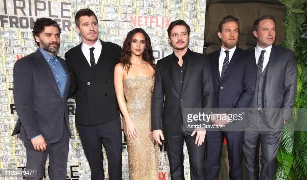 Cast member Garrett Hedlund Cast member Adria Arjona Cast member Pedro Pascal Cast member Oscar Isaac Cast member Charlie Hunnam and Cast member Ben...