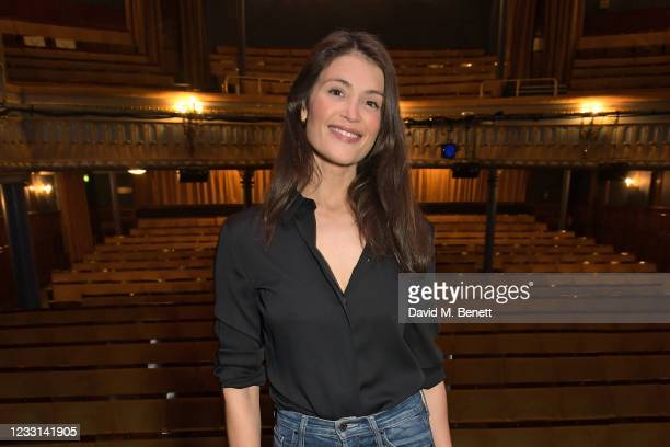 """Cast member Gemma Arterton poses at a photocall to celebrate the opening of """"Walden"""" at the Harold Pinter Theatre on May 27, 2021 in London, England."""