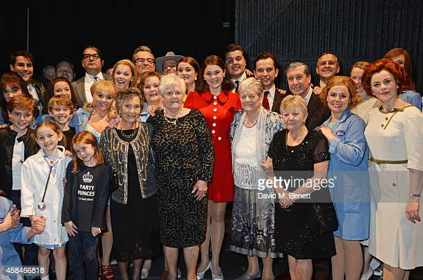 Cast member Gemma Arterton poses with the ladies of the Made In Dagenham company and reallife Dagenham strikers Gwen Davis Eileen Pullen Vera Sime...