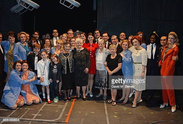 Cast member Gemma Arterton poses with the Made In Dagenham company and reallife Dagenham strikers Gwen Davis Eileen Pullen Vera Sime and Sheila...