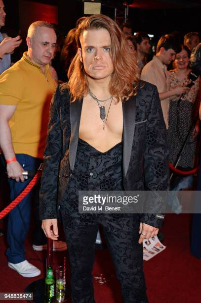 Cast member Giovanni Spano attends the Gala Night after party for 'Bat Out Of Hell The Musical' at the Bloomsbury Ballroom on April 19 2018 in London...