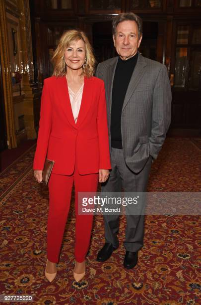 Cast member Glynis Barber and Michael Brandon attend the press night after party for 'The Best Man' at The Royal Horseguards Hotel on March 5 2018 in...