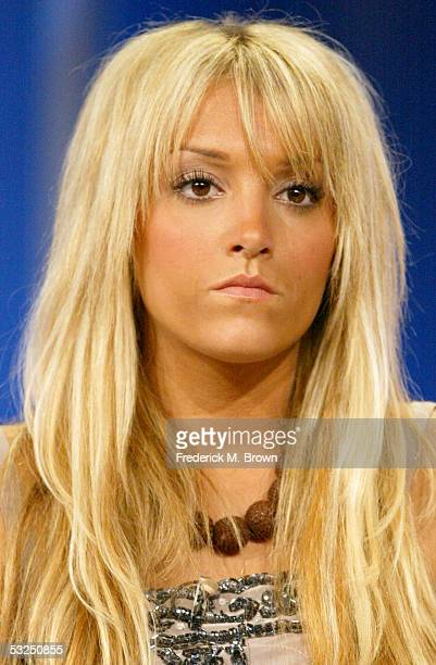 Cast member Haley Giraldo attends the panel for Filthy Rich Cattle Drive during the E Networks presentation at the 2005 Television Critics...