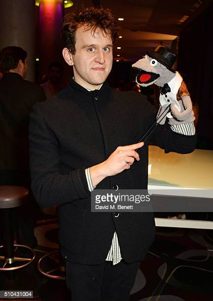 """Cast member Harry Melling attends the press night after party of """"Hand To God"""" at the Trafalgar Hotel on February 15, 2016 in London, England."""