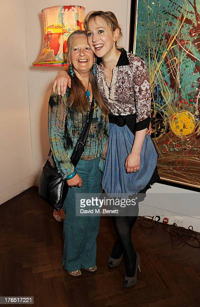 Cast member Hattie Morahan and mother Anna Carteret attend an after party following the press night performance of 'A Doll's House' at The Hospital...