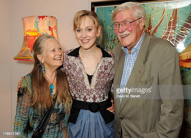 Cast member Hattie Morahan with parents Anna Carteret and Christopher Morahan attend an after party following the press night performance of 'A...