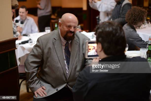 Cast member Howard Finkel attends the WWE screening of Legends' House at Smith Wollensky on April 15 2014 in New York City