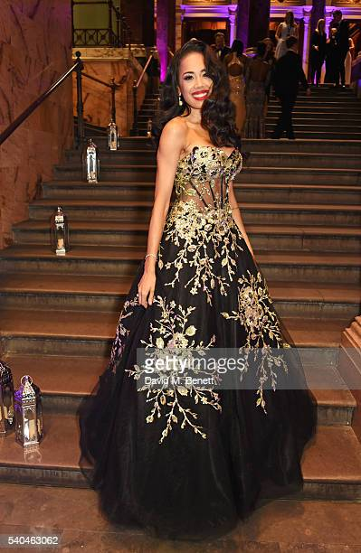 Cast member Jade Ewen attends the press night after party for Disney's 'Aladdin' at The National Gallery on June 15 2016 in London England