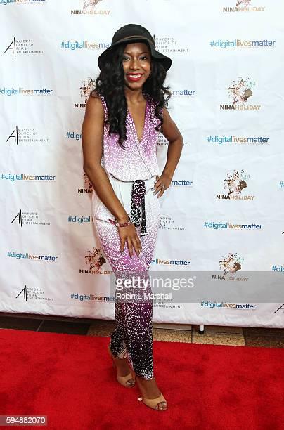 Cast Member Jahnee Wallace attends #Digitallivesmatter Red Carpet and Screening at Regal Atlantic Station on August 24 2016 in Atlanta Georgia
