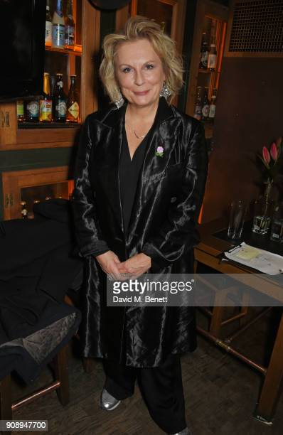 Cast member Jennifer Saunders attends the press night after party for 'Lady Windermere's Fan' at The Porterhouse on January 22 2018 in London England