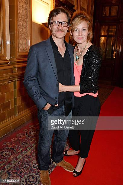 Cast member Jo Stone Fewings and Nancy Carroll attends an after party celebrating the Gala Night performance of Richard III playing at the Trafalgar...