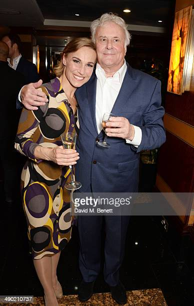 Cast member Joanna Riding and director Sir Richard Eyre attend an after party following the press night performance of 'The Pajama Game' at The...