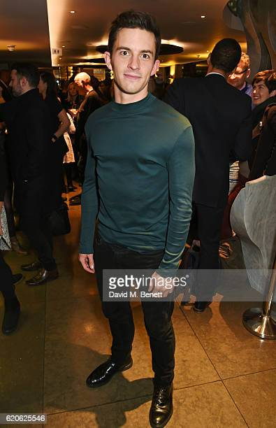 Cast member Jonathan Bailey attends the press night performance of The Last Five Years at the St James Theatre on November 2 2016 in London England