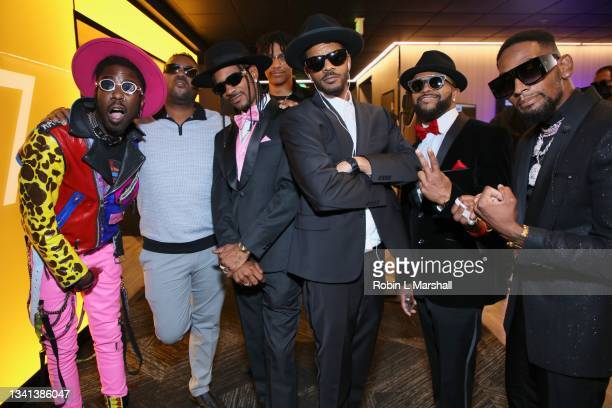 """Cast Member Kamal """"Chance"""" Givens, brother Micah Givens, Ricky Romance and friends attend Zeus Network's """"One Mo Chance"""" Season 2 Premiere at AMC..."""