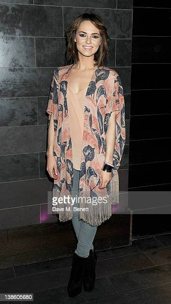 Cast member Kara Tointon attends an after party celebrating the press night performance of 'Absent Friends' at Mint Leaf restaurant on February 9...