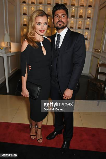 Cast member Katherine Jenkins and husband Andrew Levitas attend the press night after party for the English National Opera's production of Rodgers...
