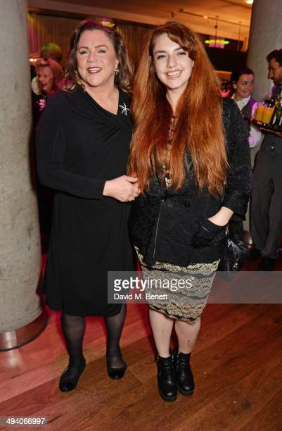 Cast member Kathleen Turner and daughter Rachel Ann Weiss attend an after party following the press night performance of Bakersfield Mist at the...