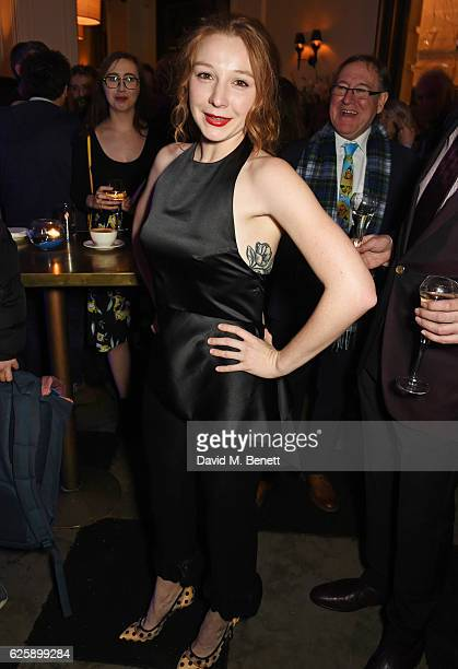 Cast member Kayli Carter attends the press night after party for Nice Fish at Villandry on November 25 2016 in London England