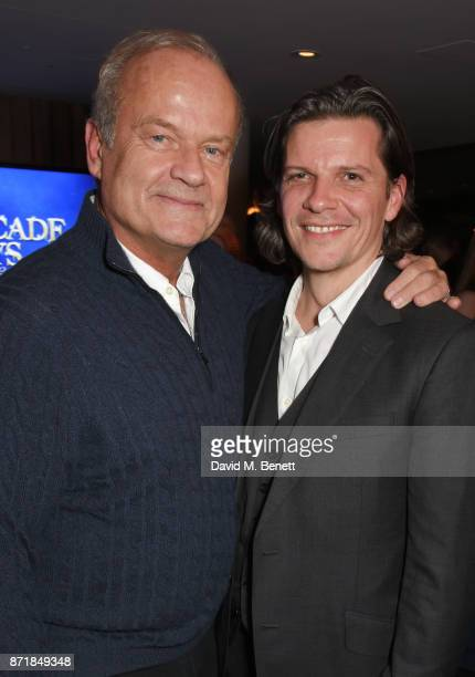 Cast member Kelsey Grammer and director Nigel Harman attend the press night after party for Big Fish The Musical at The Other Palace on November 8...