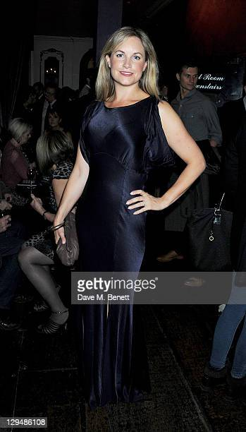 Cast member Kim Medcalf attends an after party following Press Night of 'Crazy For You' on October 17 2011 in London England