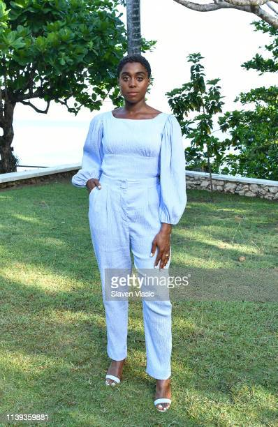 Cast member Lashana Lynch attends the Bond 25 film launch at Ian Fleming's home GoldenEye on April 25 2019 in Montego Bay Jamaica