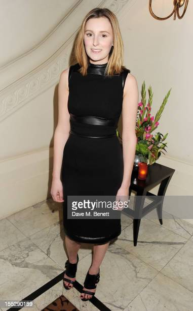 Cast member Laura Carmichael attends an after party following the press night performance of 'Uncle Vanya' at The Charing Cross Hotel on November 2...
