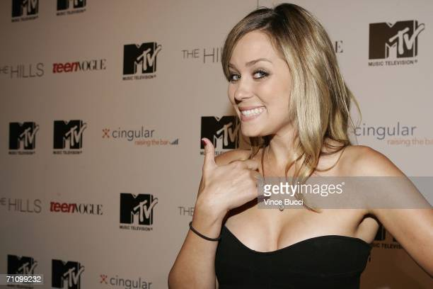 Cast member Lauren Conrad attends the viewing party for the MTV Music Television documentary/drama show The Hills on May 31 2006 at club LAX in Los...