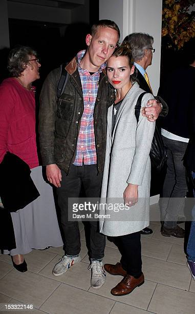 Cast member Laurence Fox and Billie Piper attends an after party celebrating the press night performance of 'Our Boys' at One Aldwych on October 3...