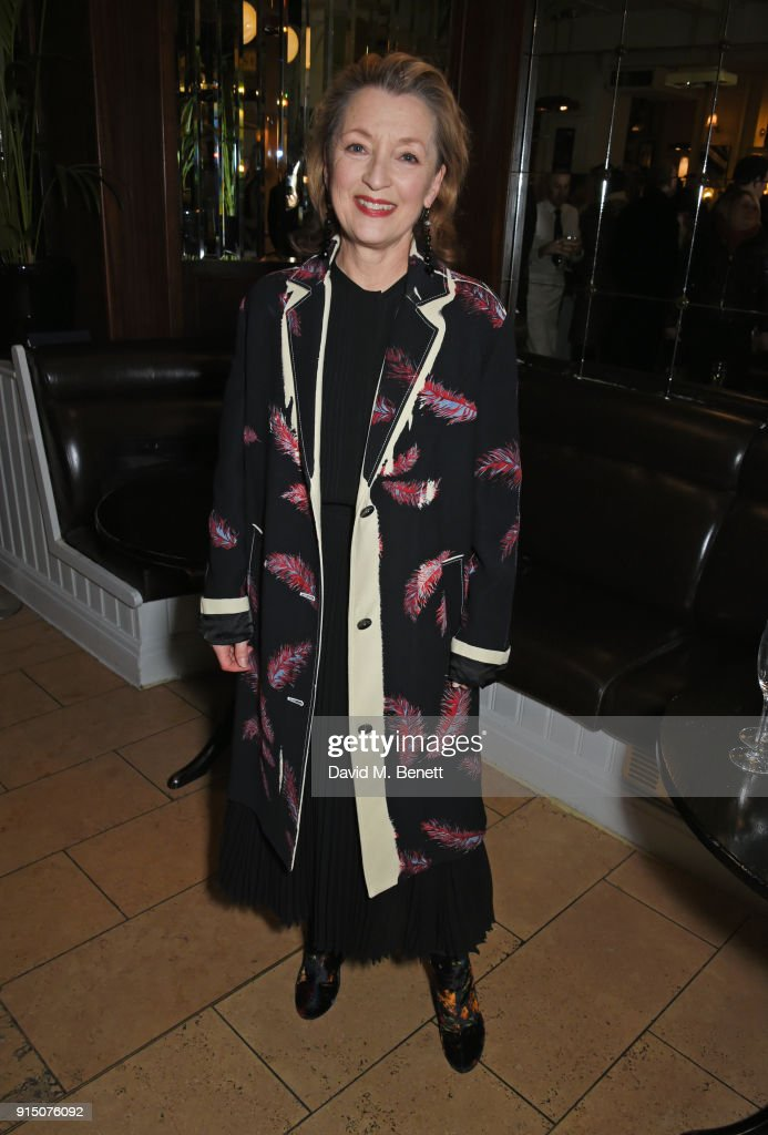 Cast member Lesley Manville attends the press night after party of 'Long Day's Journey Into Night' at Browns on February 6, 2018 in London, England.