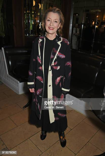 Cast member Lesley Manville attends the press night after party of 'Long Day's Journey Into Night' at Browns on February 6 2018 in London England