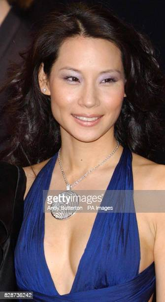 Cast member Lucy Liu arriving at The Odeon Leicester Square, London, for the UK premiere of Charlie's Angels: Full Throttle.