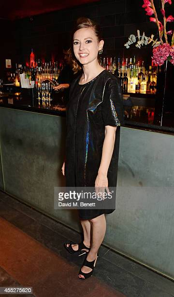 Cast member Lydia Wilson attends an after party celebrating the press night performance of King Charles III at Mint Leaf Restaurant on September 11...
