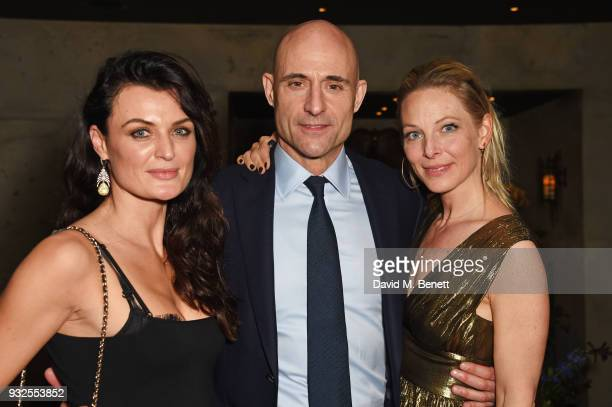 Cast member Lyne Renee Mark Strong and Anastasia Griffith attend an after party following the Global Premiere of 'Deep State' the new espionage...
