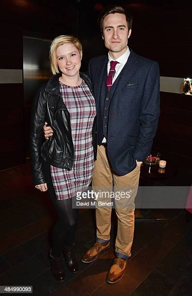 Cast member Martin Richardson and Sally Hodgkiss attend an after party celebrating the press night performance of Relative Values at Mint Leaf...