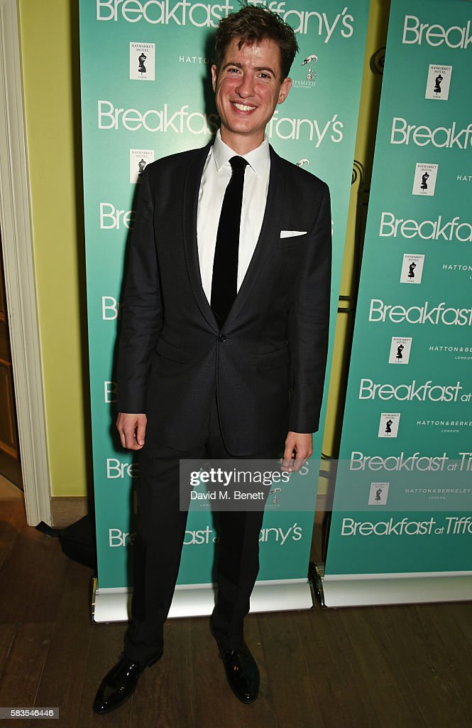 Cast member Matt Barber attends the press night after party for 'Breakfast at Tiffany's' at the The Haymarket Hotel on July 26, 2016 in London, England.