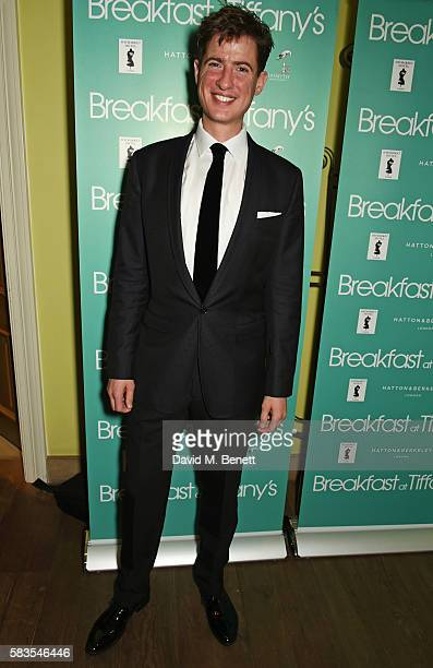 Cast member Matt Barber attends the press night after party for Breakfast at Tiffany's at the The Haymarket Hotel on July 26 2016 in London England