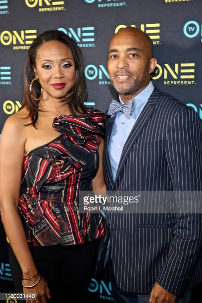 Cast Member MC Lyte and Director Lee Davis attend the TV One Premiere Screening of 'Loved To Death' during the Pan African Film Festival at Baldwin...
