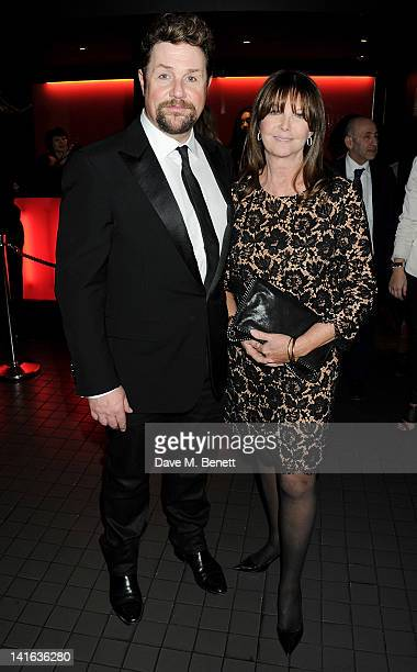 Cast member Michael Ball and Cathy McGowan attend an after party celebrating the press night performance of 'Sweeney Todd' at Floridita on March 20...
