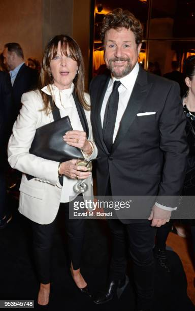 Cast member Michael Ball and wife Cathy McGowan attend the press night after party for Chess at St Martins Lane on May 1 2018 in London England