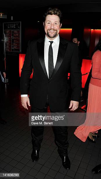 Cast member Michael Ball attends an after party celebrating the press night performance of 'Sweeney Todd' at Floridita on March 20 2012 in London...