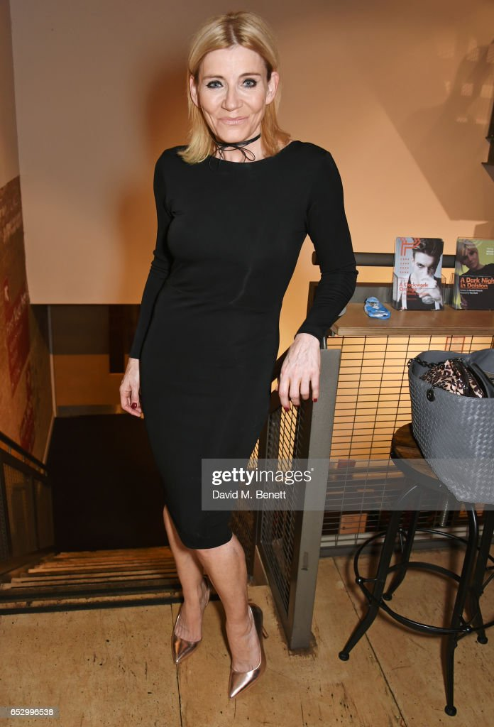 Cast member Michelle Collins attends the press night performance of 'A Dark Night In Dalston' at the Park Theatre on March 13, 2017 in London, England.