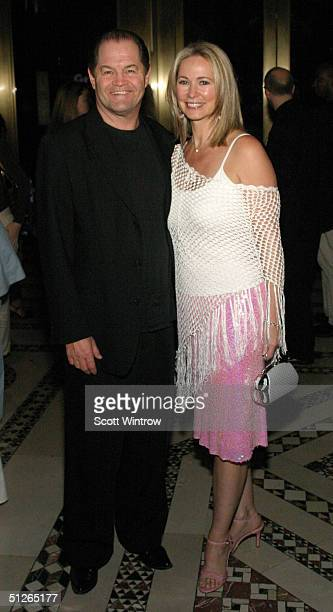 AIDA cast member Micky Dolenz and his wife Donna Quinter attend the after party for the closing performance of AIDA at Cipriani 42nd Street September...
